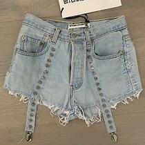 Bnwt Urban Outfitters Bitching and Junkfood Levis Customised Denim Shorts Medium Photo