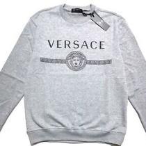Bnwt Versace Mens Gray Sweatshirt Size L Photo