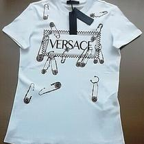 Bnwt  Versace  Womens White  Top  T-Shirt Size L Photo