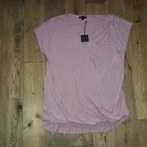 Bnwt Vetiver Ladies Blush Pink Shirt Size Uk 12 Elastic Front Hem  Detailnew Photo