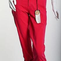 Bnwt Women's Sanctuary Red Poplin Crop Pants Size 24 98 Photo