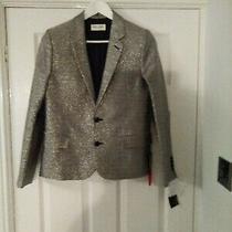 Bnwt Ysl Saint Laurent Paris Silver Jacket Blazer Rrp 3590 Photo
