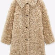 Bnwt Zara Beige Faux Fur Teddy Coat Size Xs Rrp 89.99 Sold Out Photo