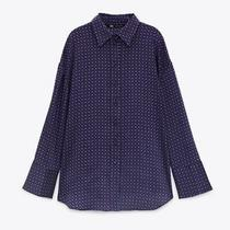 Bnwt Zara Geometric Print Shirt Purple S Needles Photo