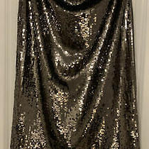 Bnwt Zara Limited Edition Silver Sequin Skirt With Fringed Hem Size Xl Photo