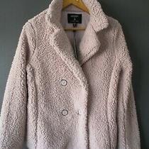 Bnwts Ashley by 26 International Teddy Coat S-8/1) Blush-Pink Bomber Harrington Photo