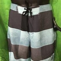 Board Shorts Mens Hurley Phantom Size 30 Swim Trunks Nwt Blue Gray Stripe Photo