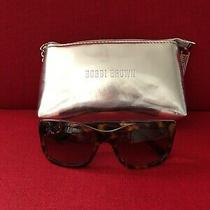 Bobbi Brown Tortoise Womens the Hollas Sunglasses W Silver Wristlet Bag Photo
