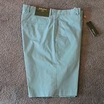 Bobby Jones Golf Mens Aqua Blue Flat-Front Shorts  Nwt 89 Waist 38 Photo