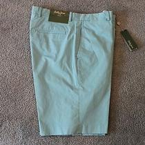 Bobby Jones Golf Mens Aqua Blue Flat-Front Shorts  Nwt 89 Waist 36 Photo
