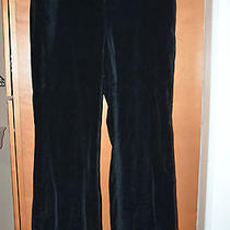 Body by Victoria Black Smooth Velvet Christie Fit Pants Sz. 12 Photo