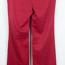 Body by Victoria Christie Fit Dress Pants Size 2 Tall Red Slacks Career Business Photo