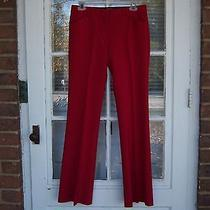 Body by Victoria Red Christie Fit Dress Casual Pants Sz 2  Photo