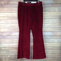 Body by Victoria Size 8 the Christie Fit Red Velvet Pants Women's Photo