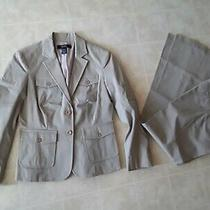 Body by Victoria Sz 4 Tan the Christie Pant Suit Blazer Jacket Career Business Photo