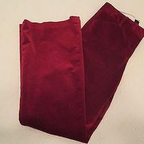 Body by Victoria the Christie Fit 4 Velvet Bootcut Red Stretch Pants  Photo