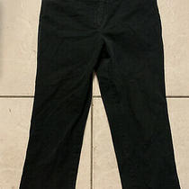 Body by Victoria the Christie Fit Black Cotton Pants Stretch Size 10 Photo