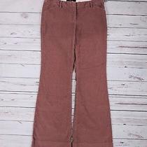 Body by Victoria the Christie Fit Corduroy Pants Sz 6 Wide Leg Dark Rose Pink Photo