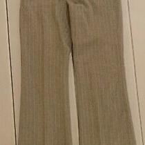 Body by Victoria the Christie Fit Gray With Pink Pin Striped Pants Size 4 Photo