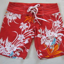 Body Glove Board Shorts Swimsuit/surf Sz 3 Small Red White Aqua 8.5