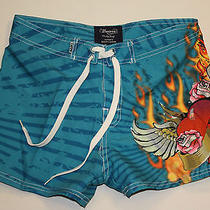 Body Surf by Basix Blue Surf Board Shorts Size Small S Photo