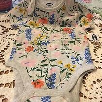 Bodysuit for Baby Girl Size 6-12 Months All Cotton Old Navy Brand Photo