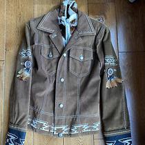 Bogner Womens Jacket Size 6 Vintage Western Native American Brown Photo