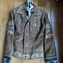 Bogner Womens Jacket Size 8 Vintage Western Native American Brown Photo