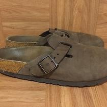 Boho Betula by Birkenstock Boston Clogs Brown Leather Buckle Mules 38 7 7.5 Photo