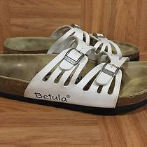 Boho Betula by Birkenstock Grace Sandals Granada White Birko-Flor Sz 38 7 7.5 Photo