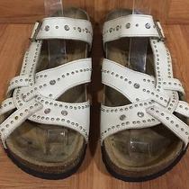 Boho Betula by Birkenstock Pisa Sandals Leather Studded Crystal Sz 41 10 10.5 Photo