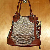 Boho Leather & Hemp Unique Ethnic Hobo Bag Rich Looking Rare Photo