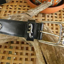 Boho/retro Brighton Black Leather With Silver Accents   Photo