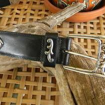 Boho/retro Brighton Black Leather With Silver Accents   Photo