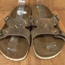 Boho Tatami by Birkenstock Tobago Sandals Tobacco Brown Leather Sz 37 6 6.5 Photo