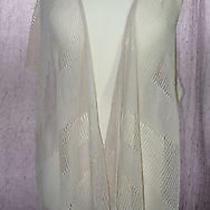 Boho Vest by Lauren Vidal It Vibes Retro Hippy Rose Blush Color Size S Photo