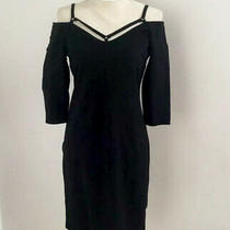 Bold Elements Womens Dress Black Scrappy Cold Shoulder Size M Pre Owned Photo