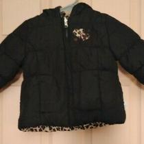 Bon Be'be' Black / Animal Print 2t Polyester Winter Jacket Photo