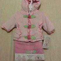 Bon Bebe Girls 3 6 Months Pink Baby Infant Jacket With Car Seat Blanket Roses So Photo
