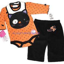 Bon Bebe Halloween Kitty Cute 3pc Set Sz 3-6m Photo