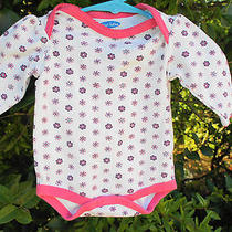 Bon Bebe One Piece Pink Flowers & Trim  0-3 Months High End French Clothing Photo