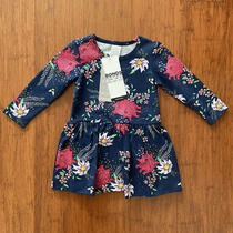 Bonds Baby Girl Navy Backyard Bloom Floral Long Sleeve Balletsuit Size 0 Bnwt Photo