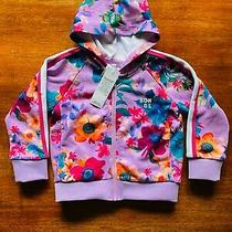 Bonds Street Digi Sweats Pink Purple Blue Orange Floral Bloom Hoodie Bnwt Size 3 Photo