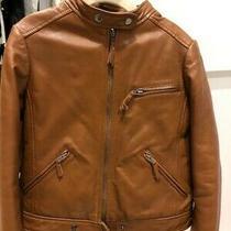Bonpoint Girls Lamb Leather Jacket Size 8 Photo