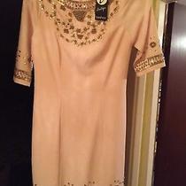 Boohoo Blush Jewel Boutique Ayah Heavily Embellished Shift Dress Size 6 Bnwt Photo