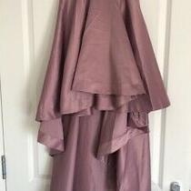 Boohoo Night Satin Style Asymmetric Blush Pink Skirt Uk 6 Photo