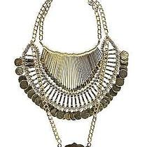 Boohoo Womens Freya Statement Coin Tribal Necklace in Gold Size One Size Photo