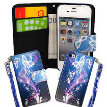 Book Type Pu Leather Magnetic Flip Case Cover for Apple Iphone 4 4s 4gstylus Photo