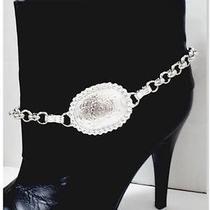Boot Bling Anklet Bracelet Handmade W/ Authentic Brighton & Tony Lama Elements Photo