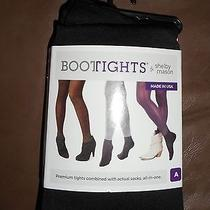 Bootights by Shelby Mason 1005 Womens Black Stretch Opaque Solid Tights Sz A Photo